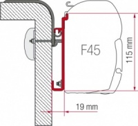 Fiamma F45 Awning Adapter Kit - Adapter Rapido